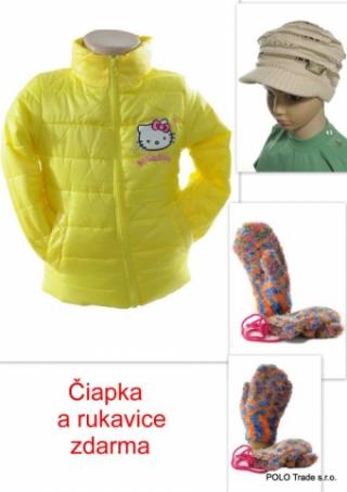 Detská bunda - Hello Kitty + rukavice a čiapka zdarma