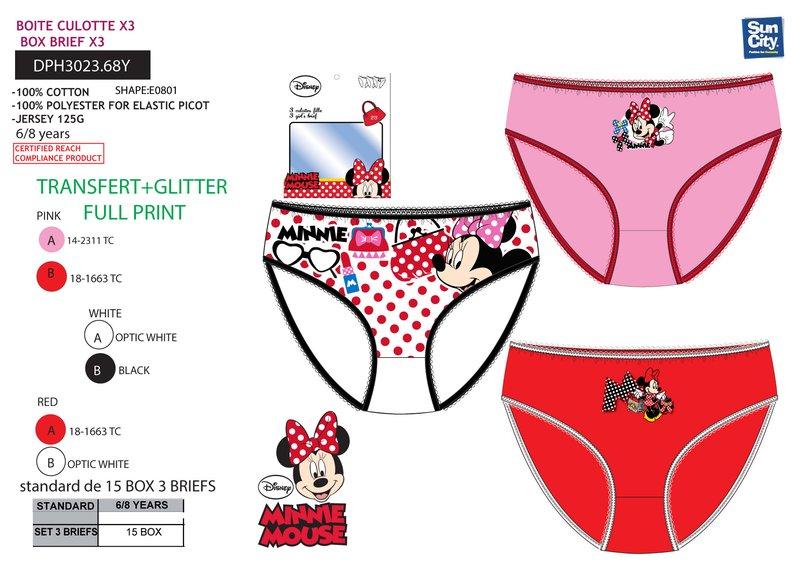 Dievčenské nohavičky MINNIE 3ks vypjk20102017 dc3684ce519