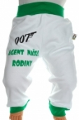 Detské tepláky - Agent 007 - zel + darček