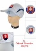 Šiltovka pásik slovakia - biela svk