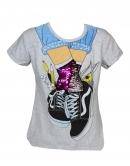 Dievčenské flitrované tričko - tenisky