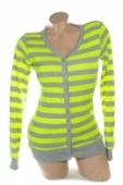 Dámsky sveter- neon pásikavé
