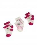 Kojenecké ponožky 3ks - kvetinky