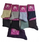 Dámske jednofarebné ponožky jemné