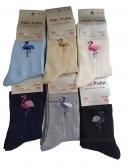 Dámske ponožky so vzorom plameniak