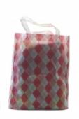 Nákupná eko textilná taška - káro