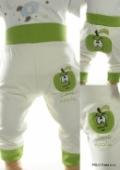 Kojenecké tepláky - zelené jablko