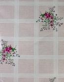 Obrus PVC - károvaný kvety