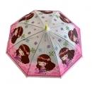 Dáždnik detský dievča kvetová čelenka 66cm