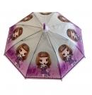 Dáždnik detský dievča s dvomi copmi P66cm