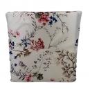 Jednostranný sedák biely-kvety a stromy, PoloTrade