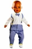 3dielny kojenecký komplet,oblek agent 007