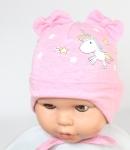 Detská čiapka na uväzovanie jednorožec