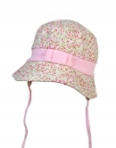 Detský klobúk - kvietky