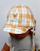 Detský klobúk - károvaný