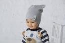 Detská čiapka - jednofarebná s uškami