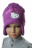 Čiapka detská pletená - Hello Kitty