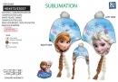 Detská čiapka s vrkočmi - Frozen