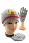 Detská čiapka + rukavice - Bart