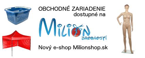 Obchodné zariadenia dostupné na Milionshop.sk
