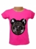 Dievčenské flitrované tričko - panda