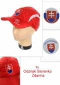 Šiltovka pásik slovakia - červena SVK