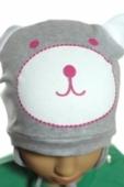 Detská čiapka - macko dievčenská