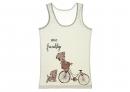 Detské tielko - psík na bicykli