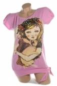 Dámske tričko - dievča so zajacom