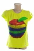 Detské tričko - Apple jablko kamienky crystal kratky rukav