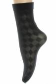 Kompresívne bezpätové silonkové ponožky LOTUS,vzor chess