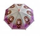 Dáždnik detský dievča červené tričko 66cm