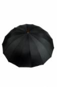 Dáždnik - čierny veľký, klasický + darček2