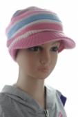 Čiapka dievčenská baretková pásiková