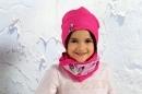 Dievčenská obojstranná čiapka -