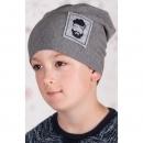Chlapčenská čiapka - JOHNNY šedá